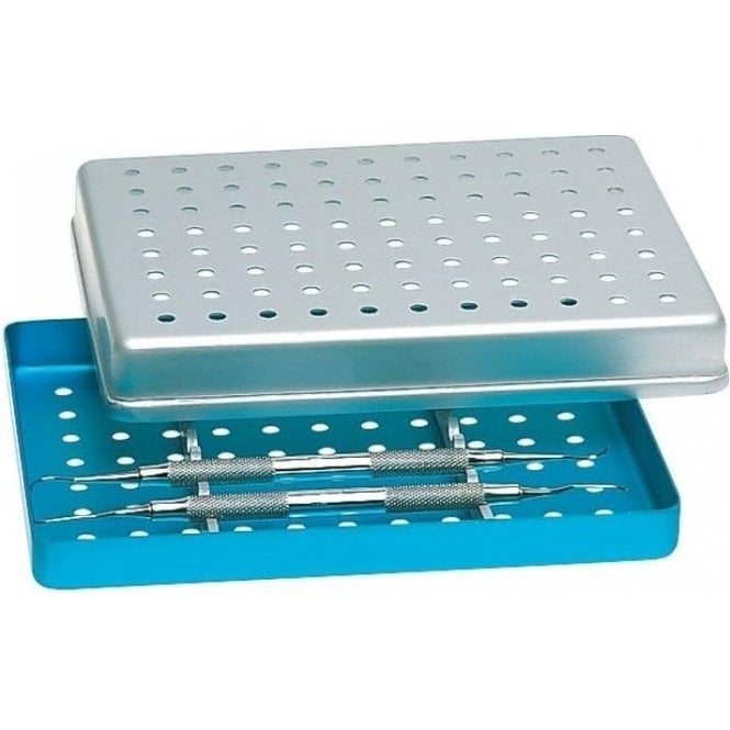 Nichrominox Mini Tray Perf Turquoise18x14cm(184460-6) - Each