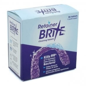 Dent-O-Care Essix Retainer Brite Cleansing Tabs - Box36