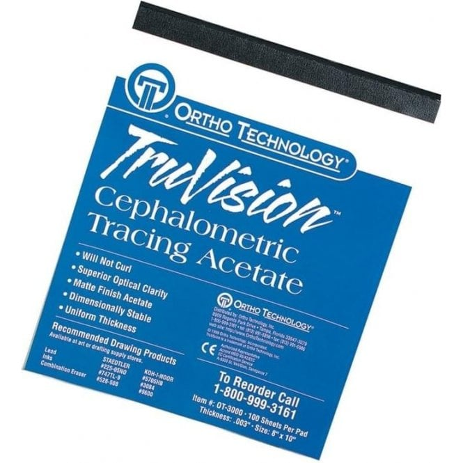 Ortho Technology TruVision Cephalometric Tracing Pad - Pk100