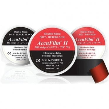 Parkell AccuFilm II Black/Black Double-sided (SO18) -Pack280
