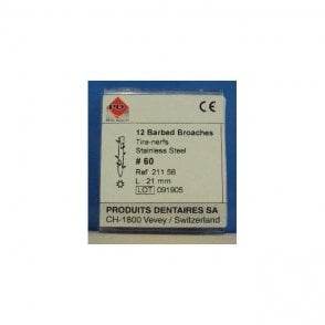 PD Barbed Broaches Short L21mm 60 Coarse (21156) - Pack12