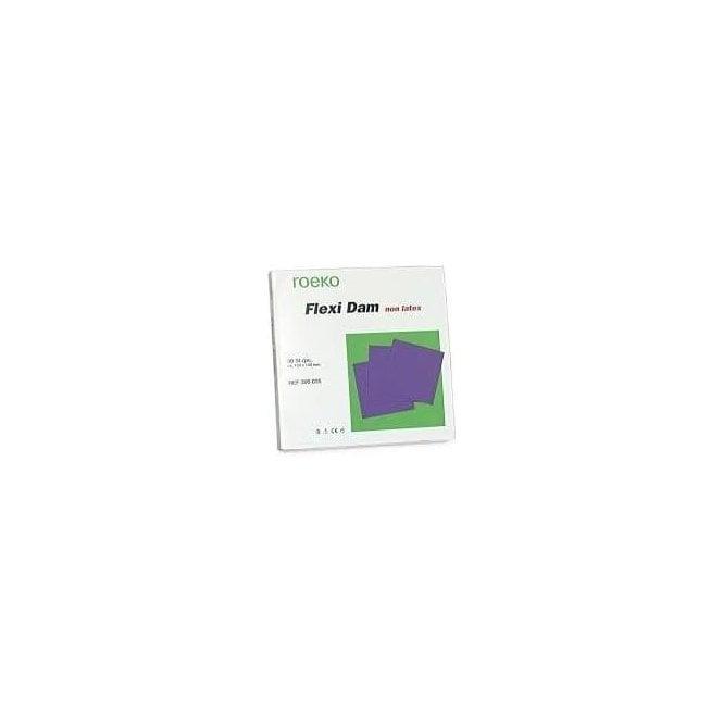 Roeko Flexi Dam Non Latex Purple 150x150mm (390035) - Pack30