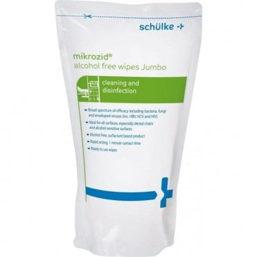 Schulke Mikrozid Alcohol Free Wipes Refill (165722) -Pack200