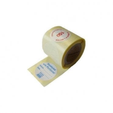 Schulke Perform ID Stickers Roll of 100x5 (900321) -Pack500