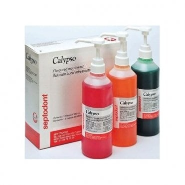 Septodont Calypso Mouthwash Raspberry 3x500ml - Box3
