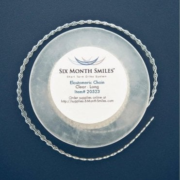 Six Month Smiles Clear Elastomeric Chain Long 15' (20523)