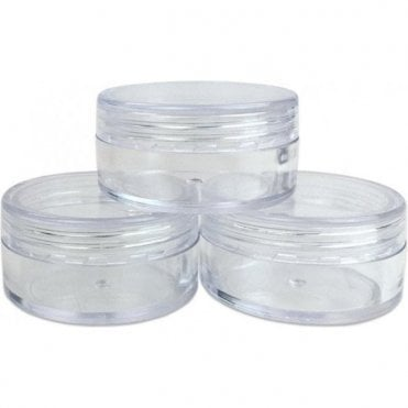 ShellyMall Small Sample Empty Clear Containers with Clear Lids 10g/10ml