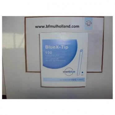 SteriBlue BlueX-Tips 11mm Blue (SB-BXTIPBLU) - Box100