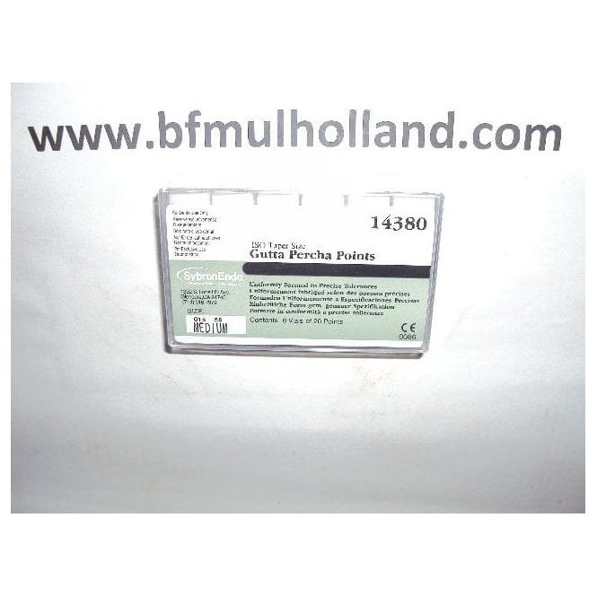 SybronEndo Auxiliary GP Points Medium (14380) - Box120