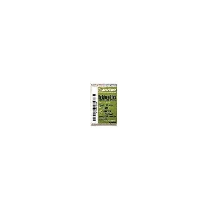 SybronEndo Hedstrom Files L21mm 15-40 (12809) - Pack6