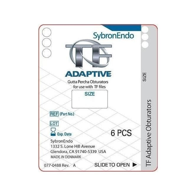 SybronEndo TF Adaptive Bulk Obturator Small Red SM3 - Pack36