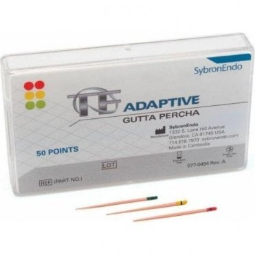 SybronEndo TF Adaptive Gutta Percha Med/Large Red ML3 Pack50
