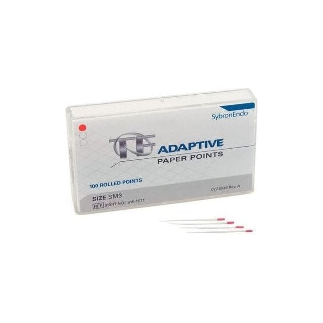 SybronEndo TF Adaptive Paper Points Small Red SM3 - Pack100