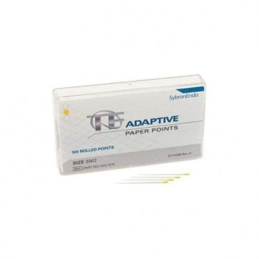 SybronEndo TF Adaptive Paper Points Small Yellow SM2 Pack100