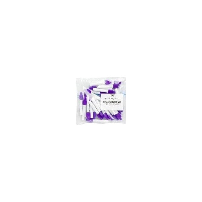 TePe Interdental Brushes Purple 1.1mm (112470) - Pack25
