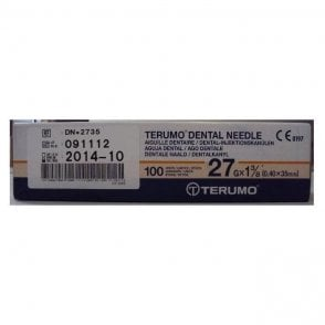 "Terumo Dental Needles 27gx1 3/8"" Long (DN*2735) - Box100"