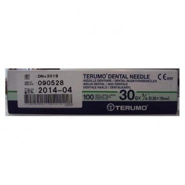"Terumo Dental Needles 30gx0.75"" Short (DN*3019) - Box100"
