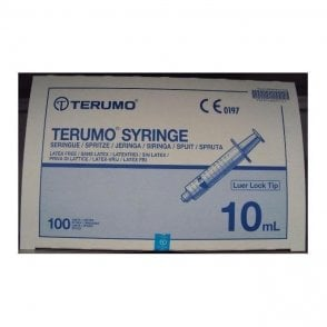 Terumo Syringes 10ml Luer Lock Tip (SS*10LE1) - Box100