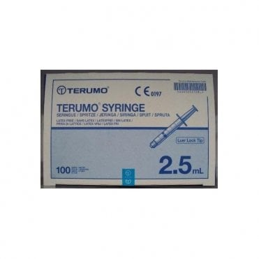 Terumo Syringes 2.5ml Luer Lock Tip (SS*02LE1) - Box100
