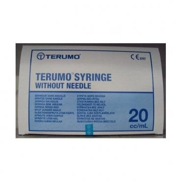 Terumo Syringes 20ml Without Needle (SS*20L1) - Box50