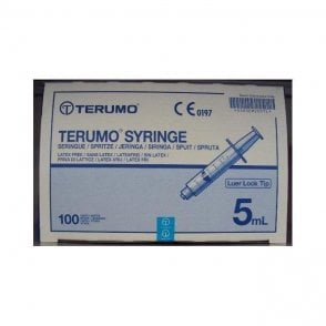 Terumo Syringes 5ml Luer Lock Tip (SS*05LE1) - Box100