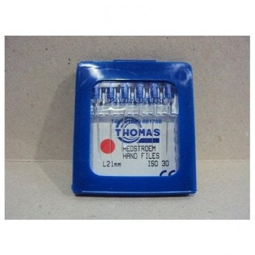 Thomas Hedstroem Hand Files L21mm Size 30 - Pack6