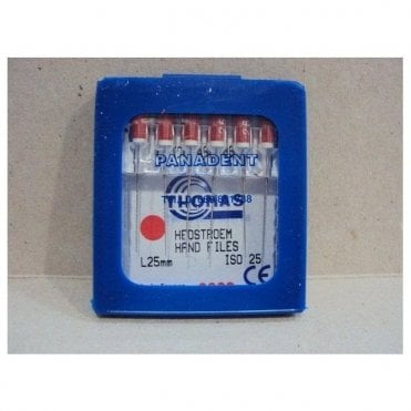 Thomas Hedstroem Hand Files L25mm Size 25 - Pack6