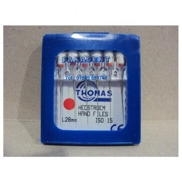 Thomas Hedstroem Hand Files L28mm Size 15 - Pack6