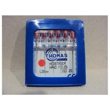 Thomas Hedstroem Hand Files L28mm Size 25 - Pack6