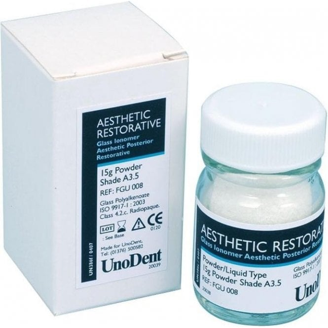 UnoDent Aesthetic Restorative Refills Powder A3.5 15g - Each