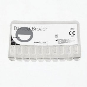 UnoDent Barbed Broach 25mm No. 0 - Box10