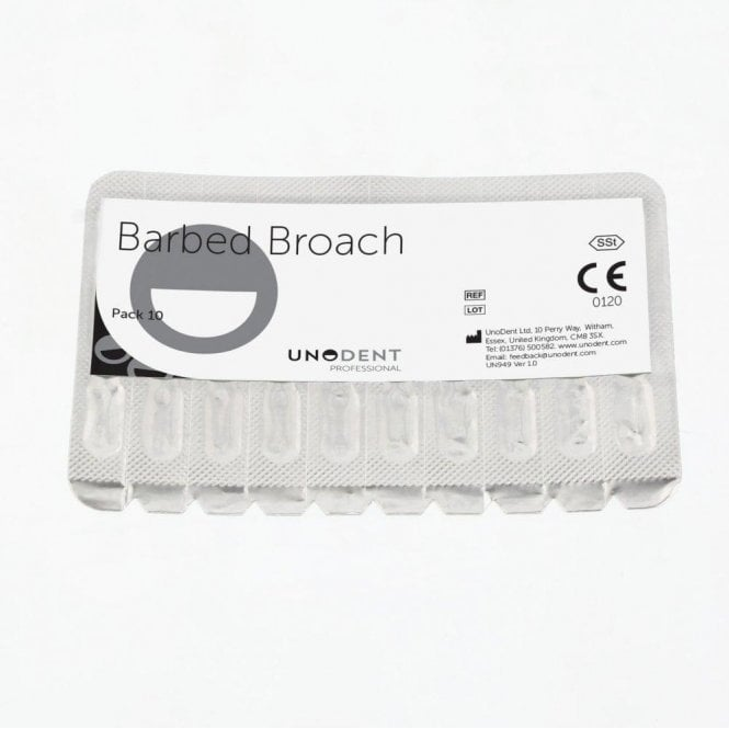 UnoDent Barbed Broach 25mm No. 3 - Box10