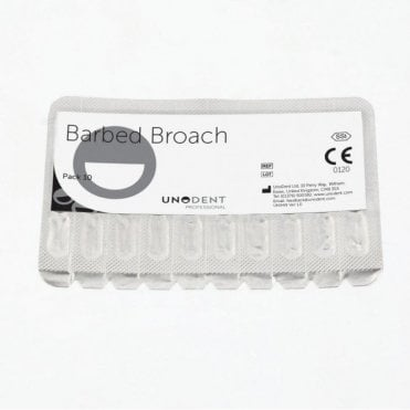 UnoDent Barbed Broach 25mm No. 4 - Box10