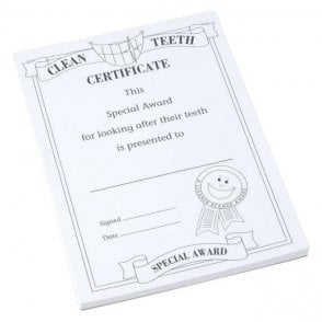 UnoDent Clean Teeth Certificates 7-12 Years - Pack100
