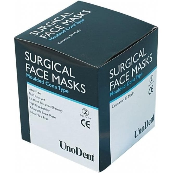 UnoDent Cone Face Masks Pink (CHI012) - Box50