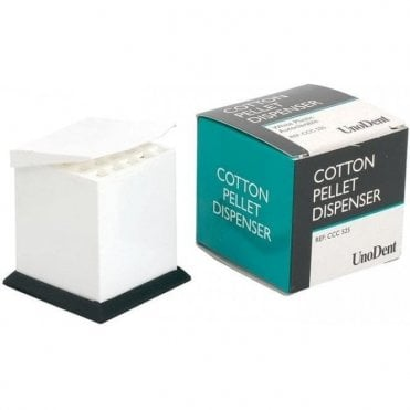 UnoDent Cotton Pellet Dispenser White Plastic (CCC525) -Each