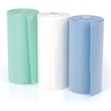 UnoDent Disposable 2 Ply Bibs Blue (COP100) - Roll80
