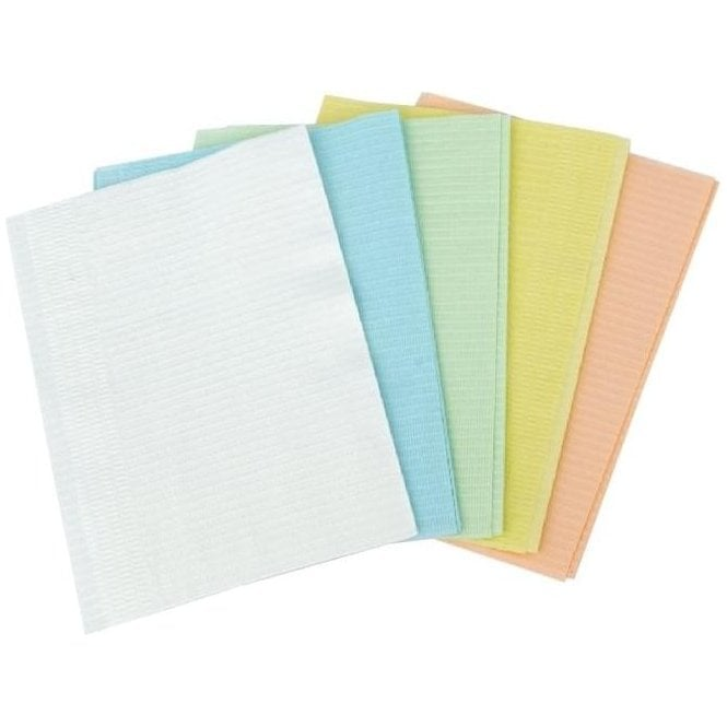 UnoDent Disposable Bibs 3 Ply Green - Pack500