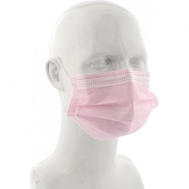 UnoDent Ear-Loop Face Mask Pink - Box50