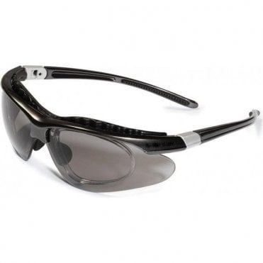 UnoDent Equinox Safety Glasses Smoke Lens Black Frame - Each