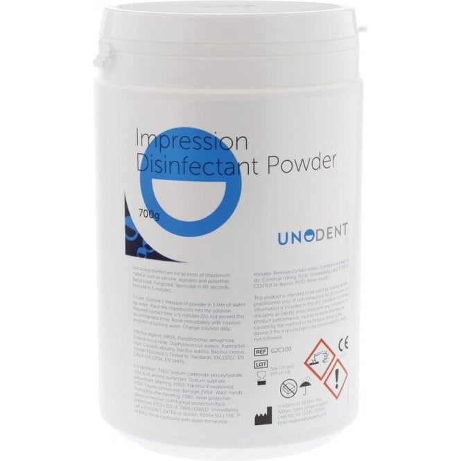 UnoDent Impression Disinfectant Powder 700g (GJC100) - Each
