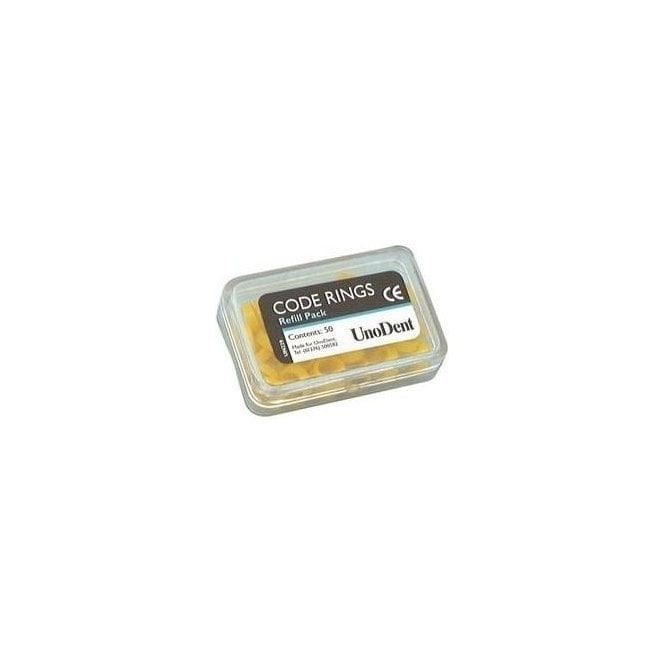 UnoDent Large Code Rings Yellow (GIX180) - Pack 50