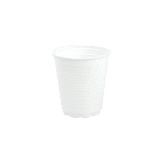 UnoDent Plastic Cups Squat White 180ml (CNK015) - Pack2000