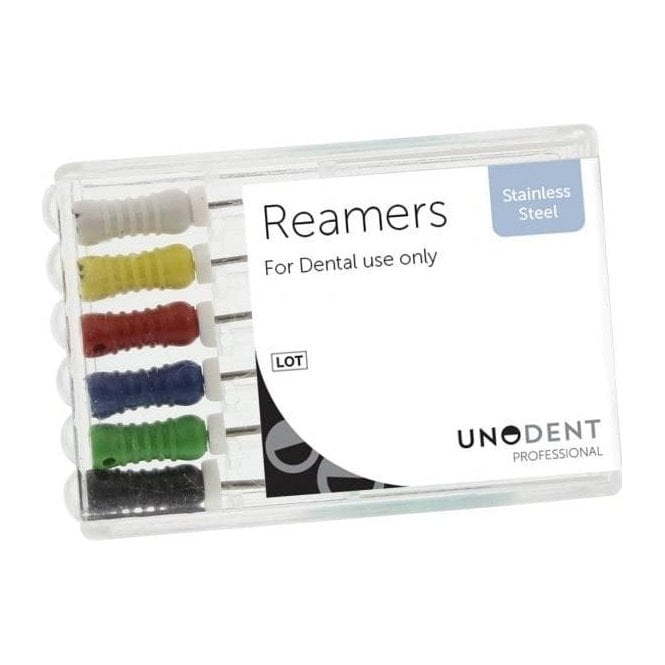 UnoDent SS Reamers 25mm Size 15 - Pack6