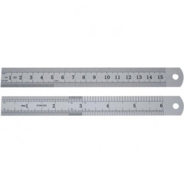 "UnoDent Stainless Steel Ruler 6"" - Each"