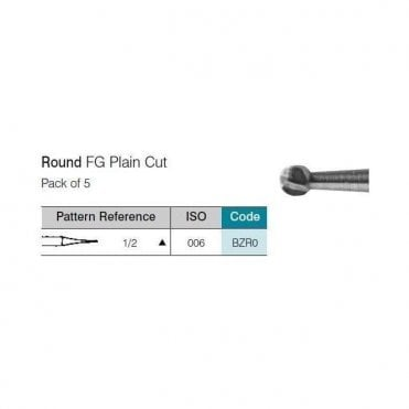 UnoDent TC Burs Round FG Plain Cut No.