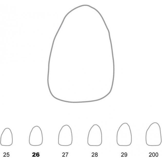 UnoDent Temporary Crowns Upper Lateral Incisors Left 26