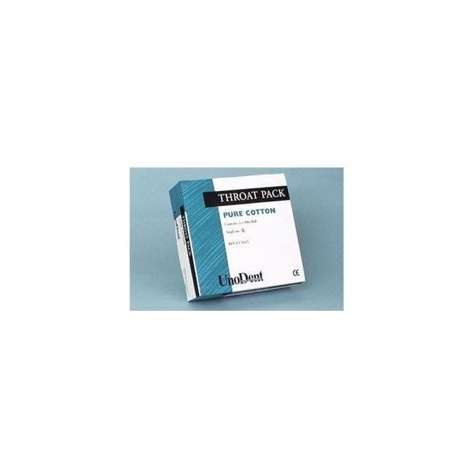 UnoDent Throat Pack With String 6cmx6cm (CCT705) - Pack50