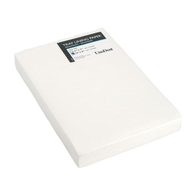 "UnoDent Tray Lining Paper 12""x8"" (CUD065) - Pack250"