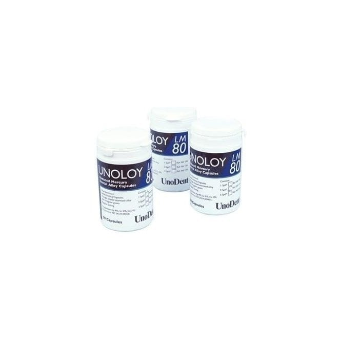 UnoDent Unoloy LM 80 Capsules 2 Spill Fast Set (FAF196)